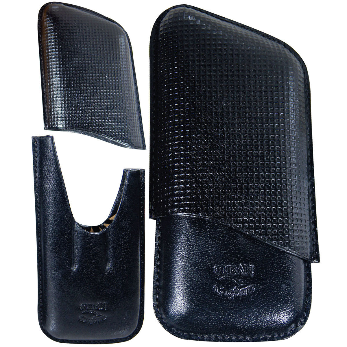 Leather Travel Cigar Case Black - Cigar boulevard