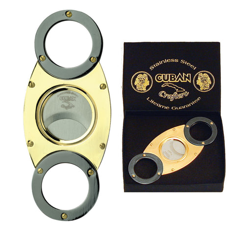 Cuban Crafters Gold Titanium Cigar Cutters Wholesale Self Sharpening Blades - Humidors Wholesaler