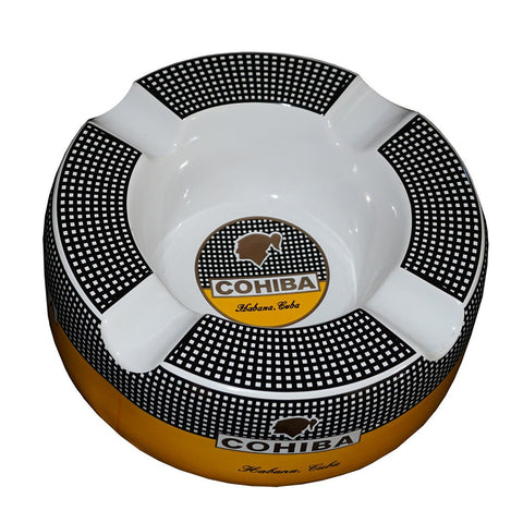 Ashtray COHIBA MASSIVE Porcelain with Four Wide Grooves