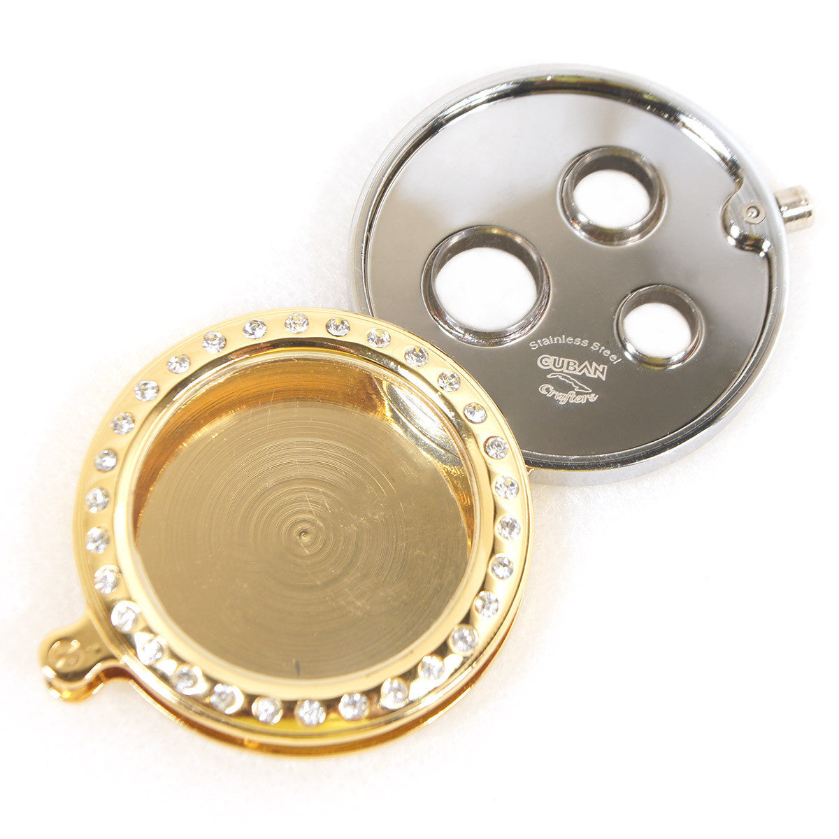 Cigar Cutter Punch in Gold With Diamond Frame - Humidors Wholesaler