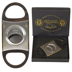 Cuban Crafters Gold Cigar Cutters Deluxe Luxury Cigar Cutter Wood Handles - Humidors Wholesaler