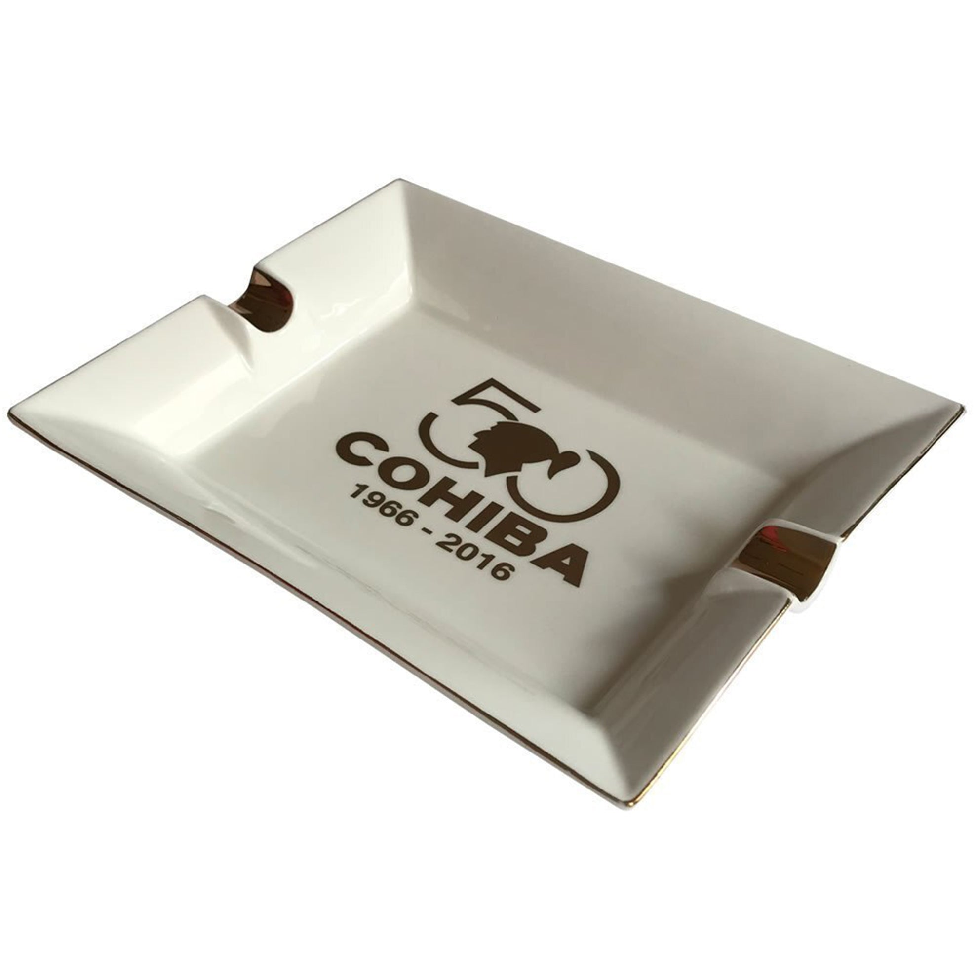NEW Ashtray EXTRAVAGANZA Off White Porcelain with Two Wide Grooves