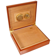 COMBO 420, 25 Cigar Humidor El Mio Burl, Cutter and 2 Humidifiers Cigars