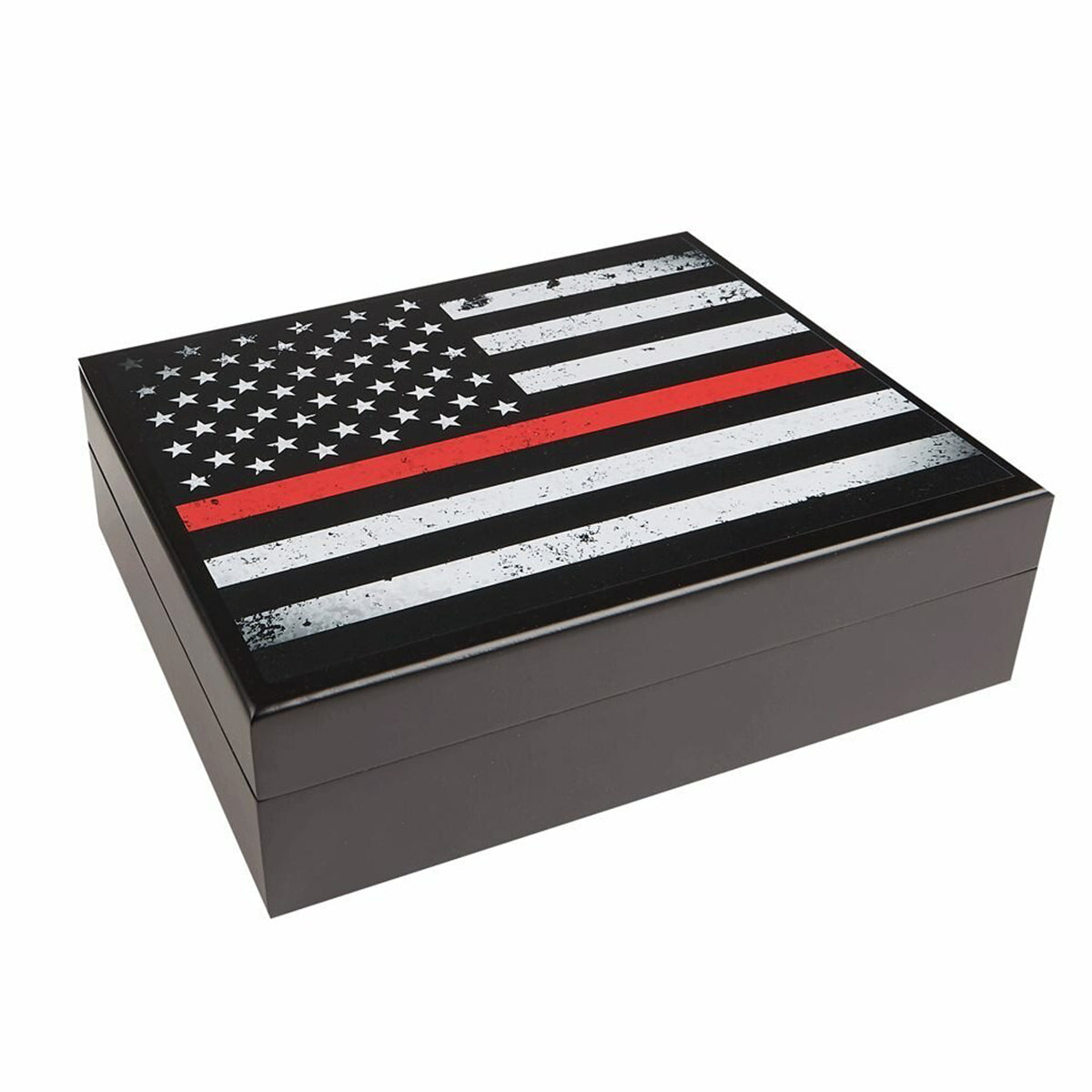 NEW Cigar Humidor USA Flag Red Print for 20 Cigars