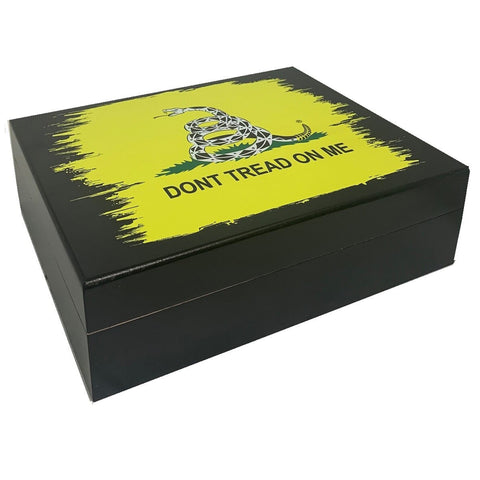 "Marine ""Don't tread on me"" Cigar Humidor"
