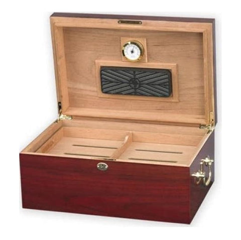 """LE MONDE"" Highgloss Cherry Desktop Humidor for 100 Cigars"