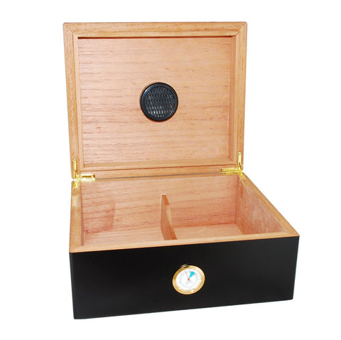 """LE PEINTRE"" Black Desktop Humidor for 50 Cigars"