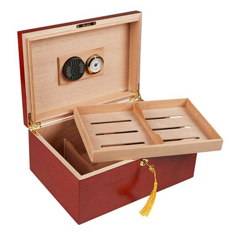 """LE CITÉ"" Rosewood Desktop Humidor for 75 Cigars"