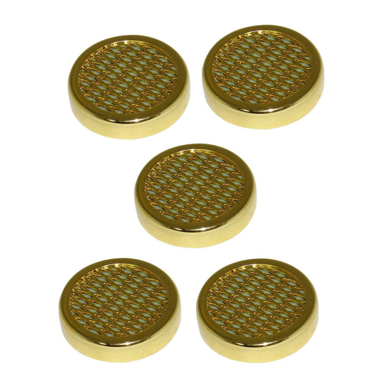 Cigar Humidifier for Humidors Small Round Gold Pack of 5