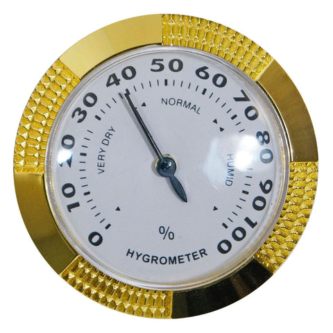 Brass Humidor Hygrometers for Humidors - Large Analog Hygrometer - Humidors Wholesaler