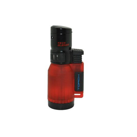 EAGLE TRIPLE TORCH FLAME Lighter Semi Transparent Tank
