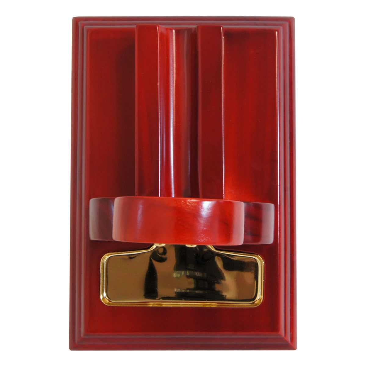 Guillotine Mesa Fina Red Rojo Cherry Wood Gold Tabletop Cigar Cutter - Cigar boulevard