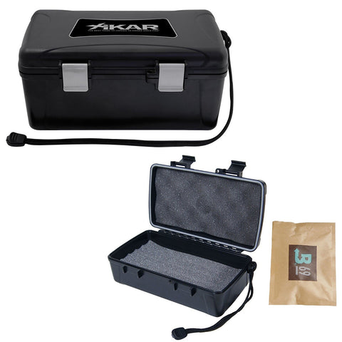 XIKAR Travel Cigar Humidor - Hardcase Outside Soft Foam Interior - 5, 10 & 15 Cigar Capacity