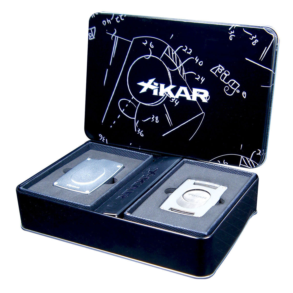 Xikar Ultra Slim Cigar Cutter and Lighter Silver Gift Set - Humidors Wholesaler