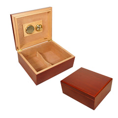 COMBO ABUELO, Humidor for 40 Cigars, Cutter, Ashtray and Torch Lighter Cigars