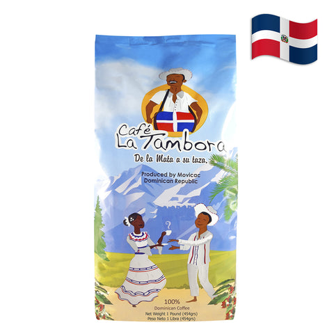 DOMINICAN ORGANIC LA TAMBORA COFFEE GROUND Pack of 8 Oz