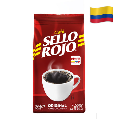 COLOMBIAN ORGANIC SELLO ROJO COFFEE GROUND Pack of 8.8 Oz