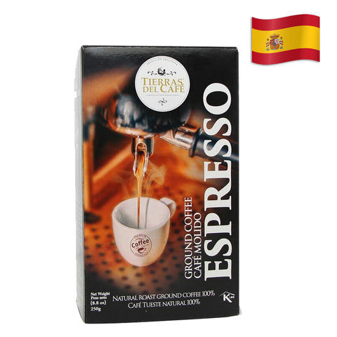 SPANISH TIERRAS DEL CAFE COFFEE EXPRESSO Pack of 8.8 Oz