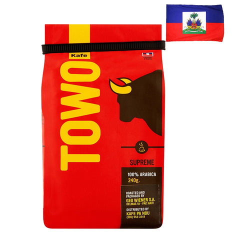 HAITI TOWO Ground Coffee Pack of 8 Oz