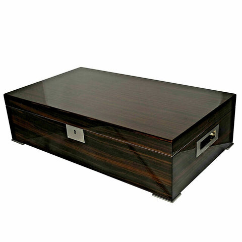 Desk/Counter Top Adjustable Dividers High Lacquer Humidor for up to 250 Cigars
