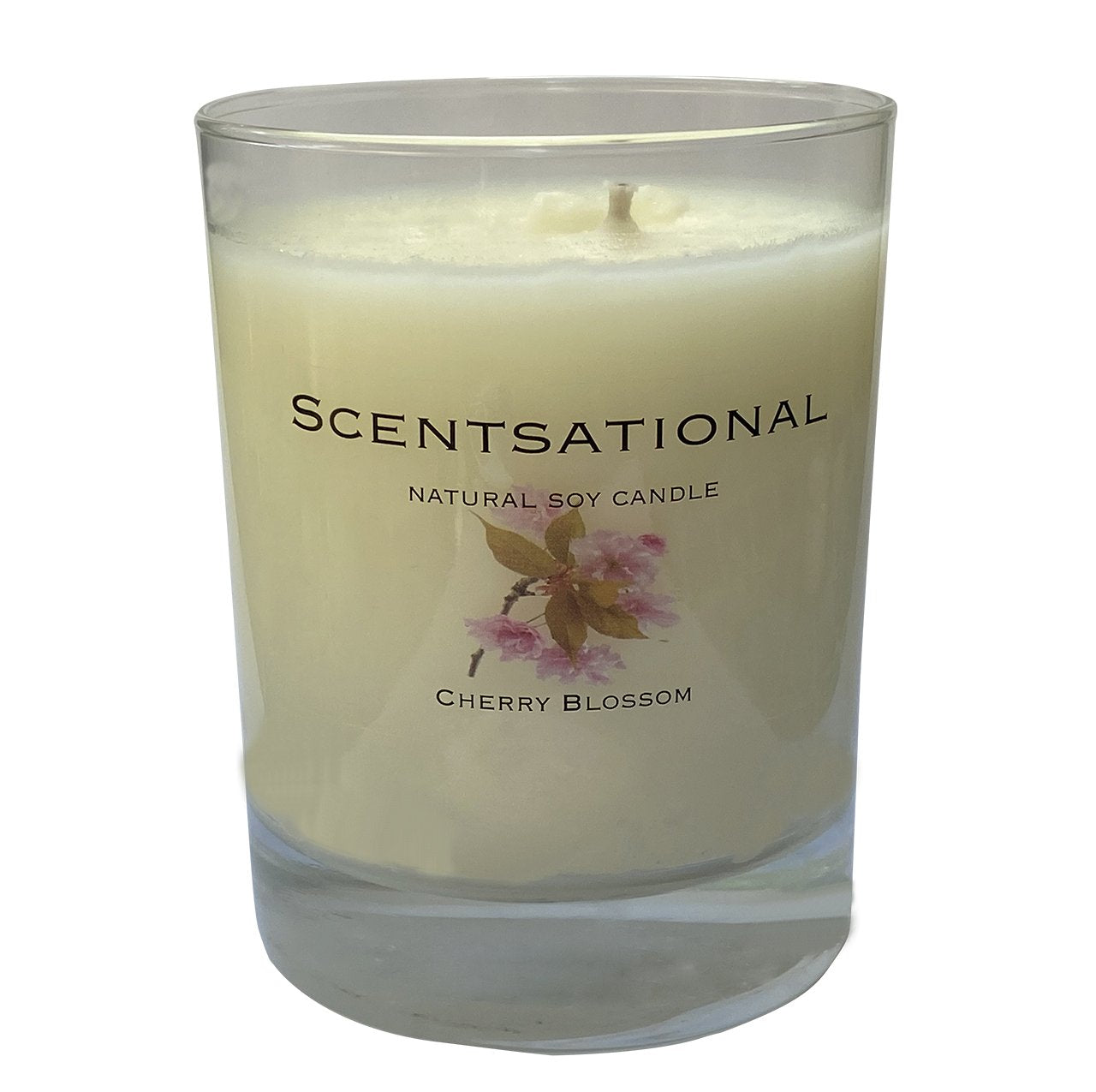 Scented Soy Candles CHERRY BLOSSOM (11 oz) eliminates smoke, household and pet odors.