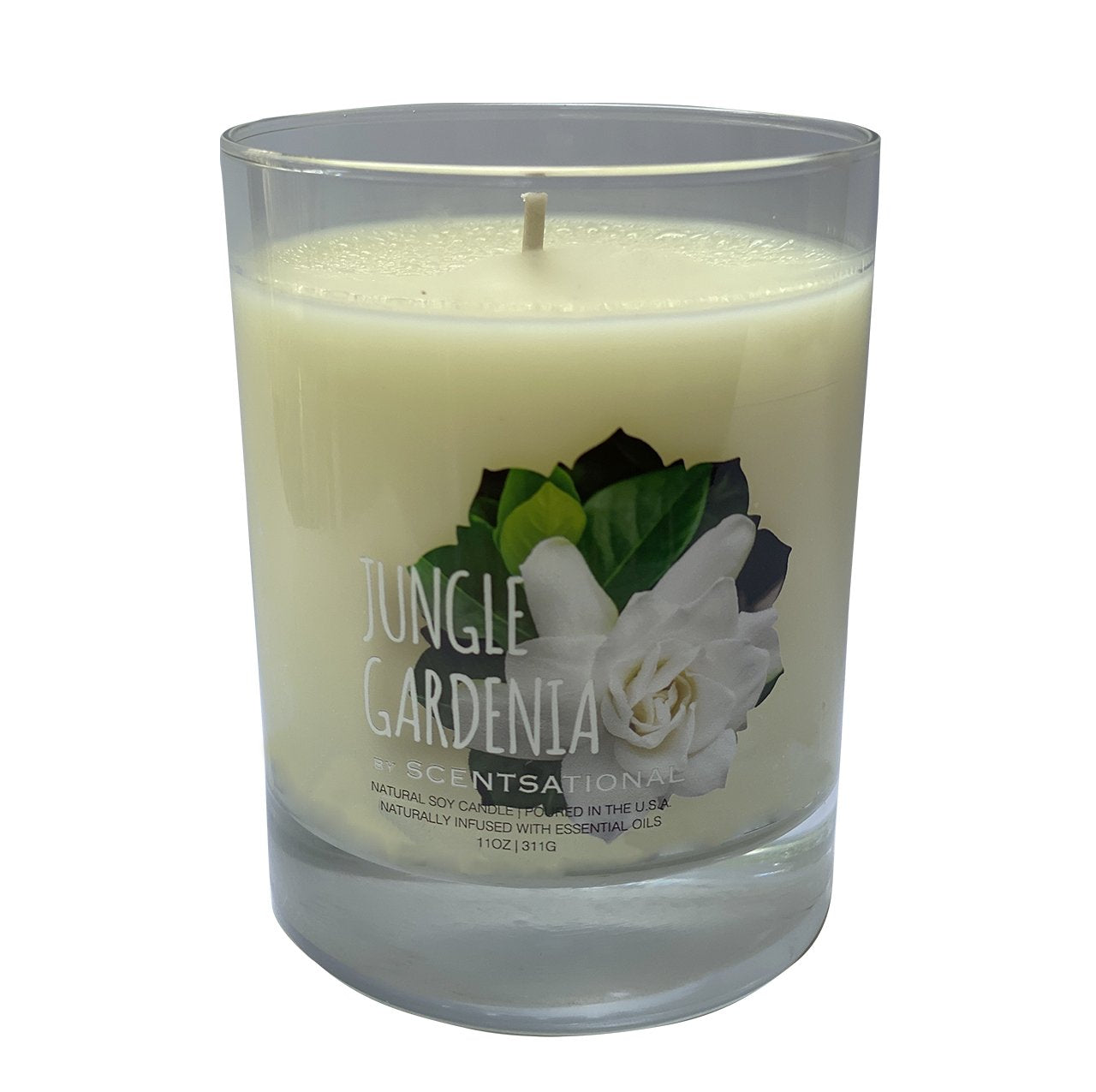 Scented Soy Candles GARDENIA (11 oz) eliminates smoke, household and pet odors.