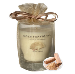 Scented Soy Candles SANDALWOOD  (11 oz) eliminates smoke, household and pet odors.