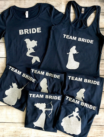 Princess Silhouette Bridal Shirts