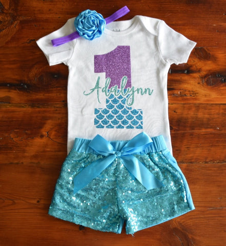 Mermaid Scales Birthday Outfit