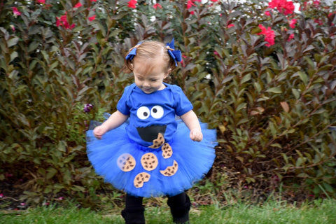 Cookie Monster Birthday Outfit Sesame Street Birthday Outfit