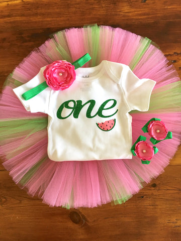 "Watermelon ""One in a Melon"" Birthday Outfit"