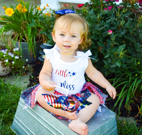 4th Of July Outfit | Memorial Day Outfit | Little miss America | Red white and blue tutu