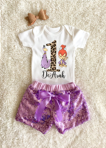 2b956c7c2 Pebbles 1st Birthday Outfit | Flintstones Birthday Outfit