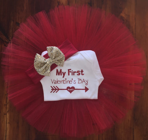 My First Valentine's Day Tutu Outfit