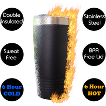Bearded Inked Awesome Funny Novelty Stainless Steel Coffee Tumbler 20oz & 12oz, Double Walled Vacuum Insulated Tumbler with Splash Proof Lid Gift For Men & Women