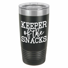 Keeper Of The Snacks Funny Novelty Stainless Steel Coffee Tumbler 20oz & 12oz