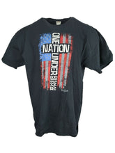 American Flag One Nation Graphic T Shirt Size 2XL Color Black 100% Cotton