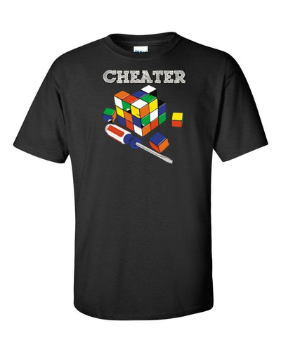Funny T-Shirt Cheaters Rubik's Cube In Many Colors.