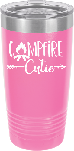 Camp Cutie Funny Novelty Stainless Steel Coffee Tumbler 20oz & 12oz, Double Wall