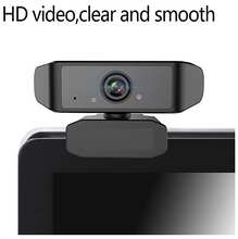 1080P Webcam with Microphone, Plug&Play, USB 2.0 Camera for Desktop/Laptop/PC