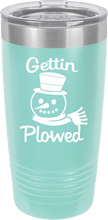 Gettin Plowed Funny Novelty Stainless Steel Coffee Tumbler 20oz And 12oz, Double Walled