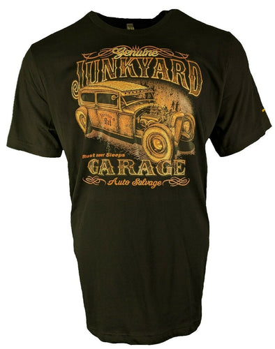 Retro Vintage Hot Rod T Shirt Junkyard Garage for Men