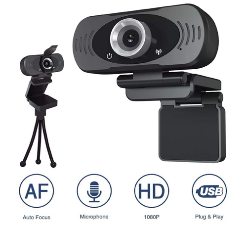 USB Webcam Full HD 1920x1080. Computer Camera with Built-in mic and Fixed auto F