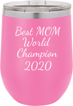 Best Mom World Champion Stainless Steel 2020 Tumbler 20oz & 12oz, Double Wall
