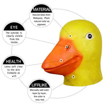 Halloween Novelty Animal Head Mask Costume Party Duck Head Mask Cosplay Props