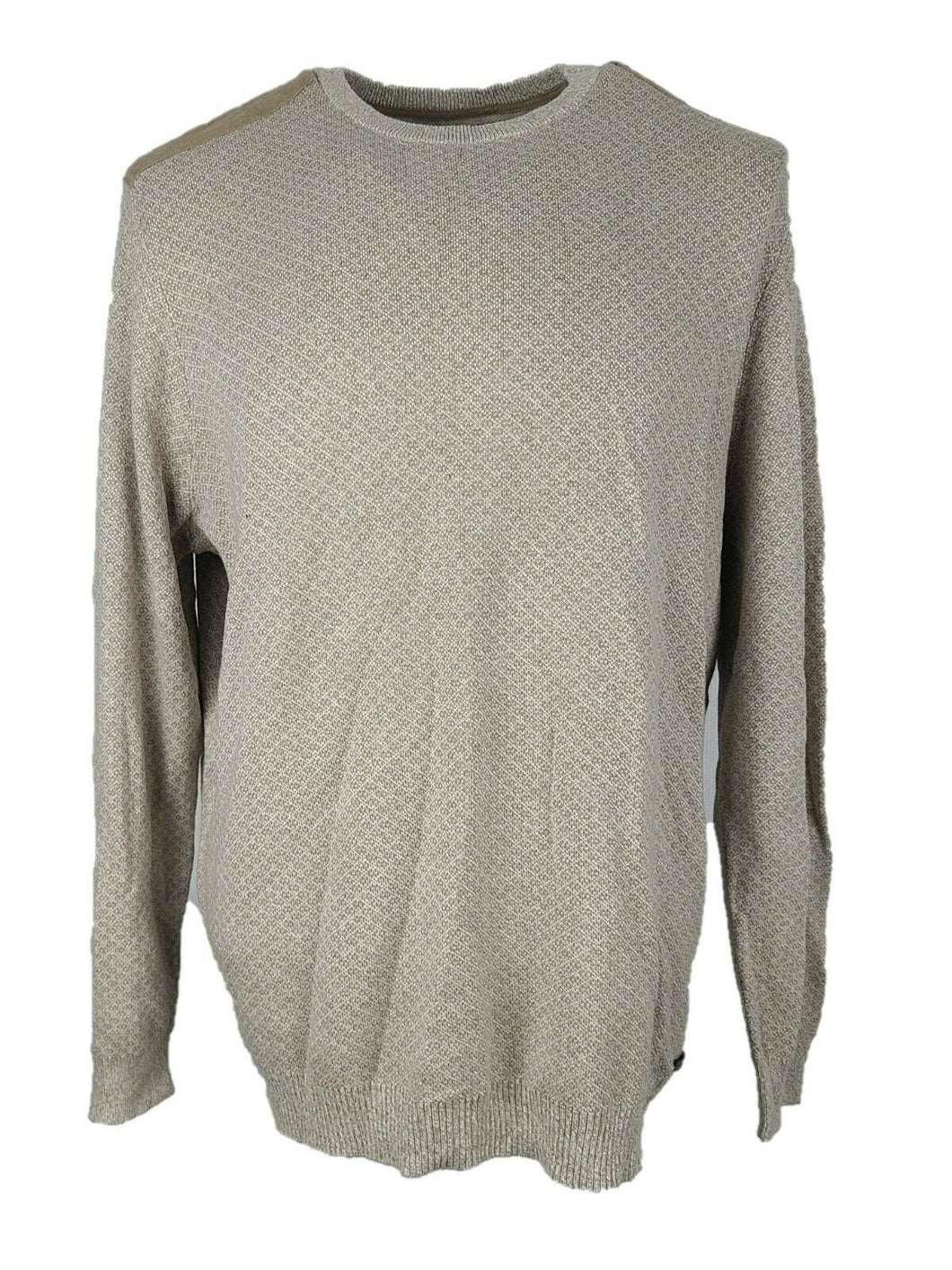 Men Jasso Elba Sweater Size XL Color Brown Super Soft Cotton Silk Blend