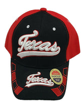 Texas Embroidered Baseball Cap Hat Adjustable Red & Black  One Size Fit New