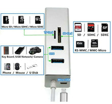 USB to Gigabit Ethernet RJ45 LAN Network Adapter Hub,USB 3.0 to SD TF Card Reade