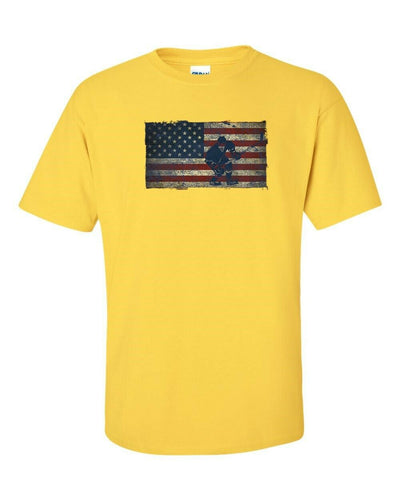 T-Shirt - American Flag Hockey Show Your Love Of Sport - In Many Colors