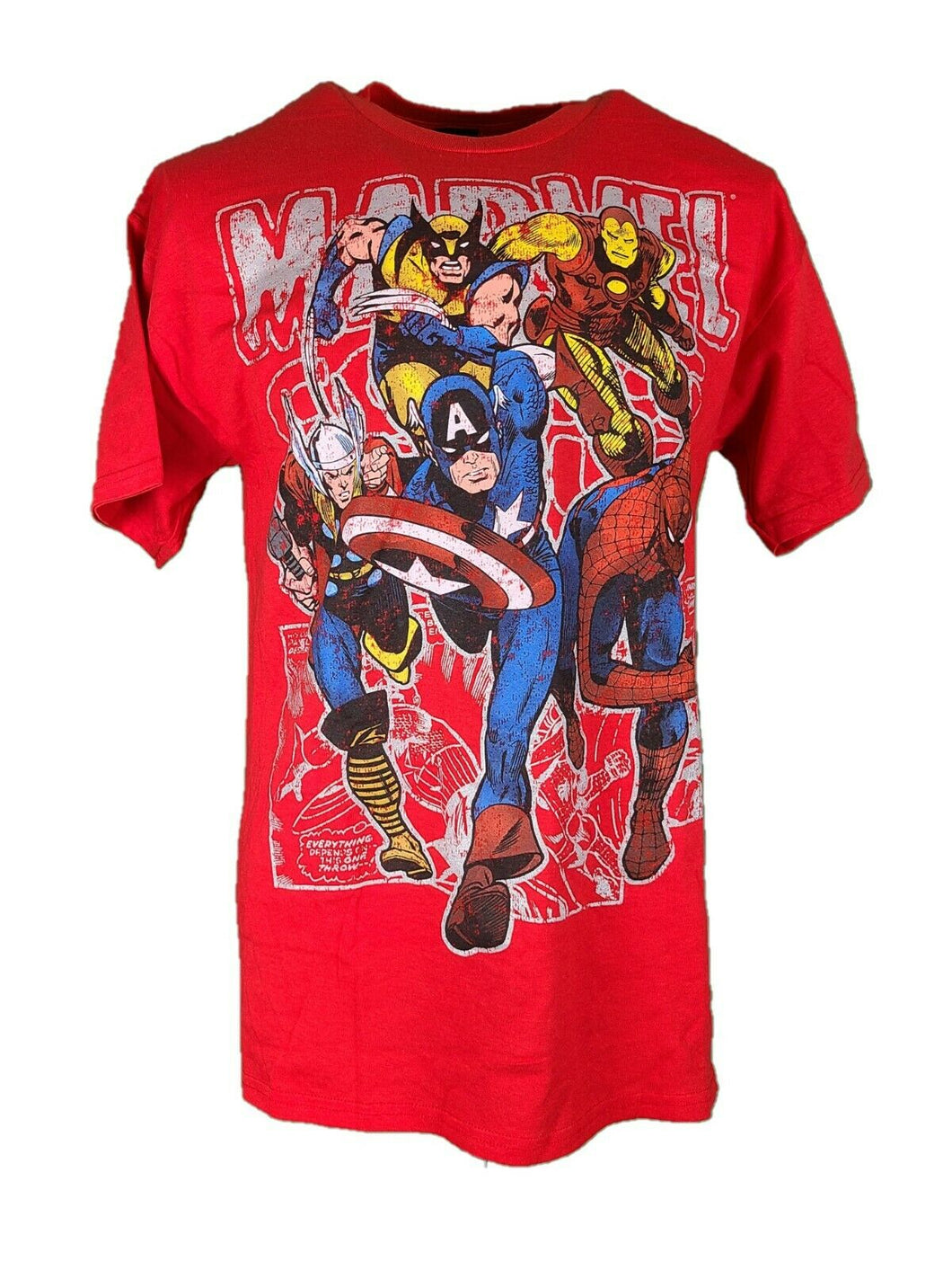 New Marvel Comics T Shirt Size Large Color Red